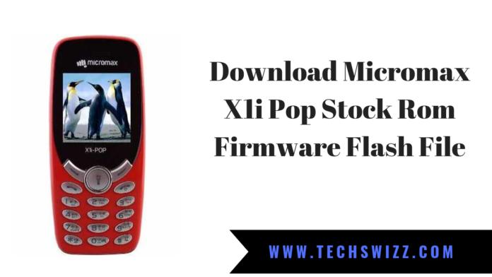 Download Micromax X1i Pop Stock Rom Firmware Flash File