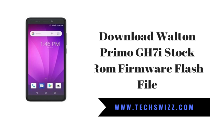 Download Walton Primo GH7i Stock Rom Firmware Flash File