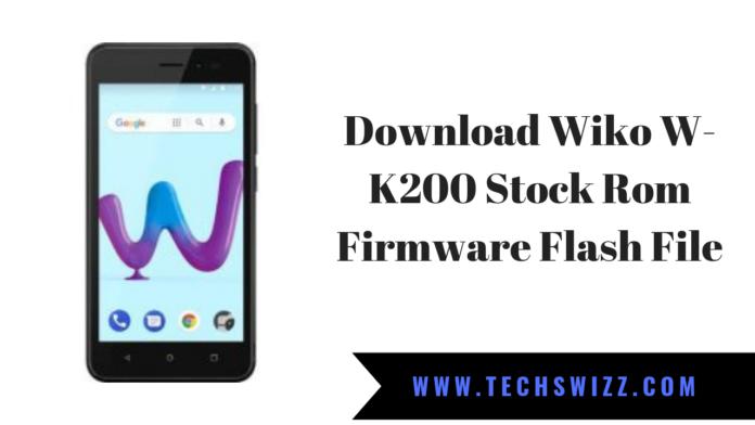 Download Wiko W-K200 Stock Rom Firmware Flash File