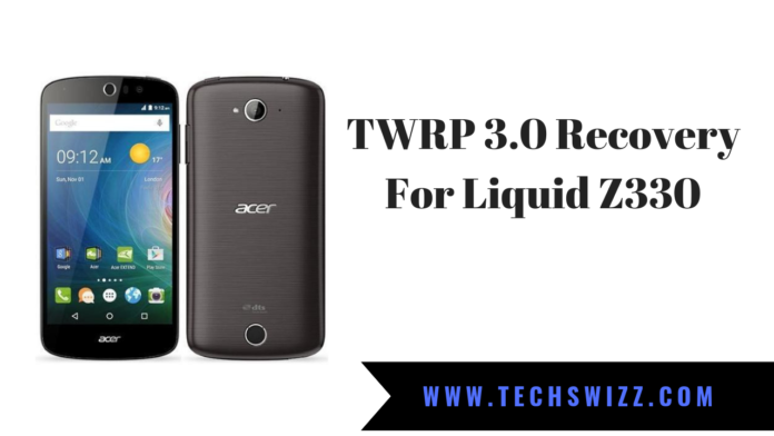 TWRP 3.0 Recovery For Liquid Z330