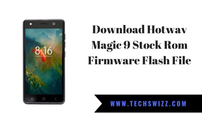 Download Hotwav Magic 9 Stock Rom Firmware Flash File