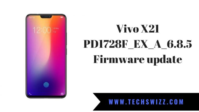 Vivo X21 PD1728F_EX_A_6.8.5 Firmware update