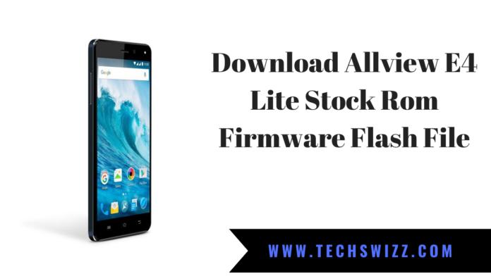Download Allview E4 Lite Stock Rom Firmware Flash File