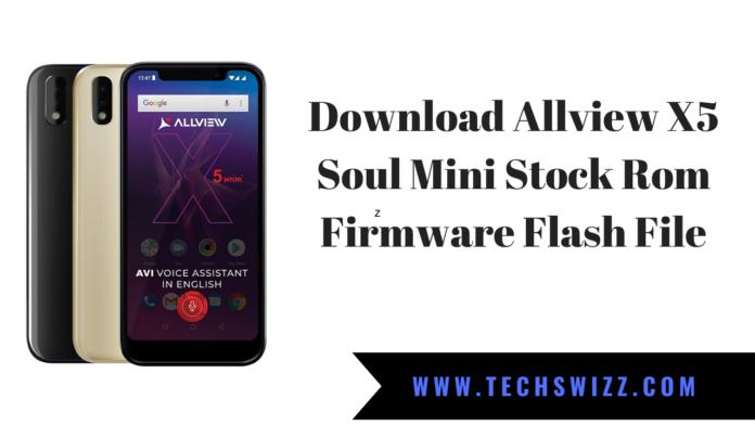 Download Allview X5 Soul Mini Stock Rom Firmware Flash File