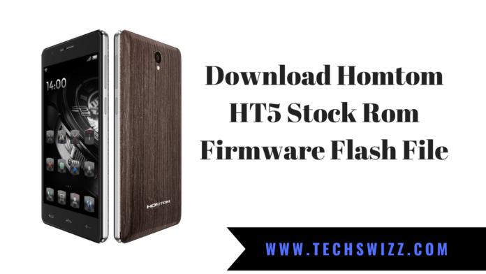 Download Homtom HT5 Stock Rom Firmware Flash File