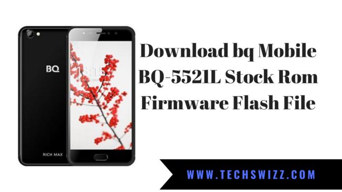 Download bq Mobile BQ-5521L Stock Rom Firmware Flash File