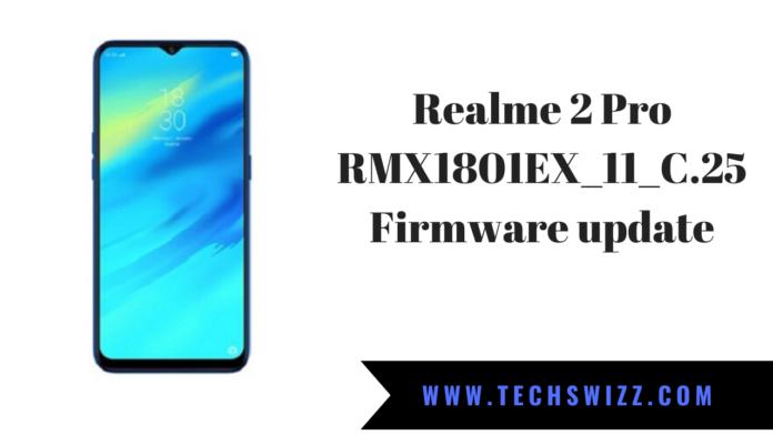 Realme 2 Pro RMX1801EX_11_C.25 Firmware update