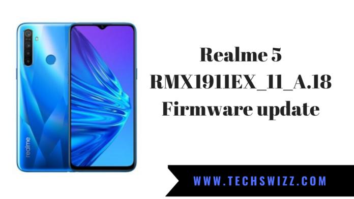 Realme 5 RMX1911EX_11_A.18 Firmware update