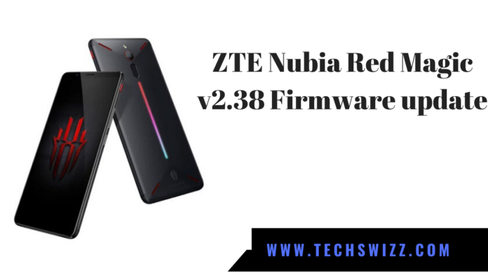 ZTE Nubia Red Magic v2.38 Firmware update