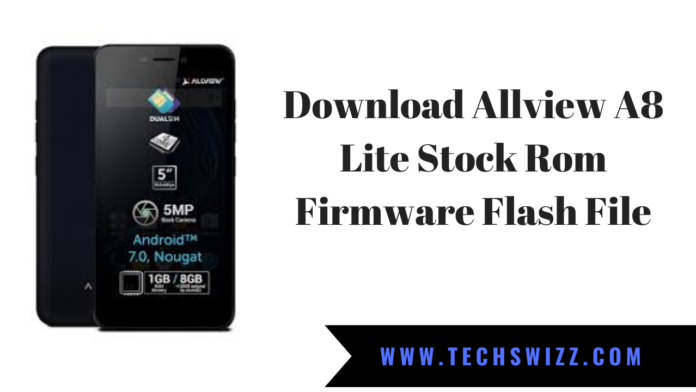 Download Allview A8 Lite Stock Rom Firmware Flash File