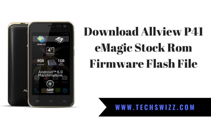 Download Allview P41 eMagic Stock Rom Firmware Flash File