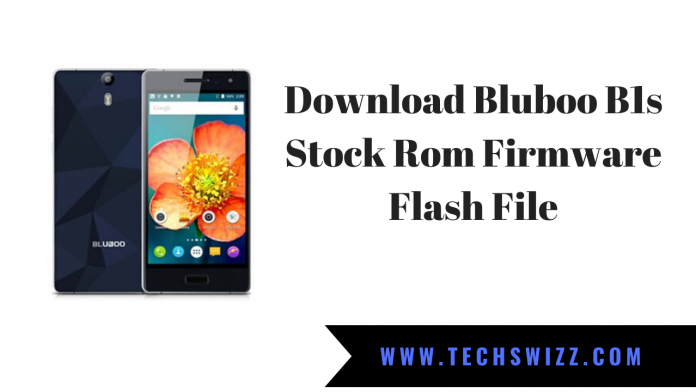Download Bluboo B1s Stock Rom Firmware Flash File