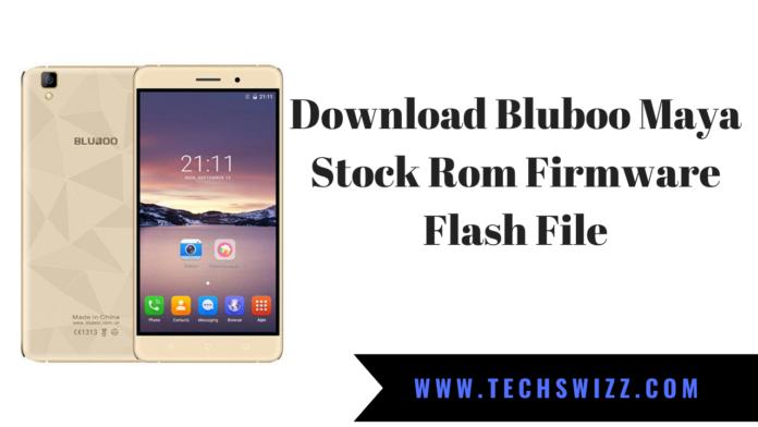 Download Bluboo Maya Stock Rom Firmware Flash File