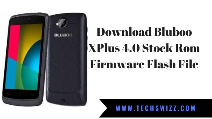 Download Bluboo XPlus 4.0 Stock Rom Firmware Flash File