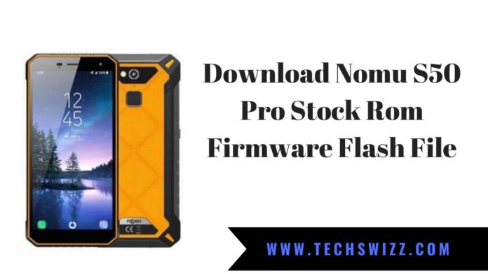 Download Nomu S50 Pro Stock Rom Firmware Flash File