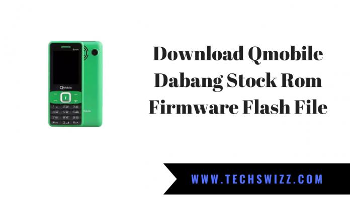 Download Qmobile Dabang Stock Rom Firmware Flash File