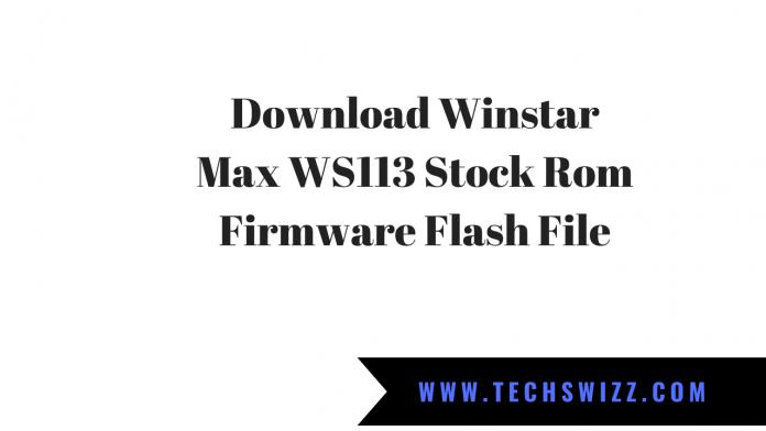 Download Winstar Max WS113 Stock Rom Firmware Flash File