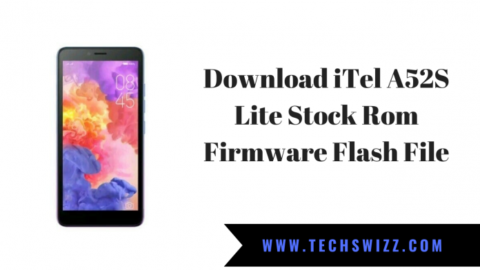 Download iTel A52S Lite Stock Rom Firmware Flash File