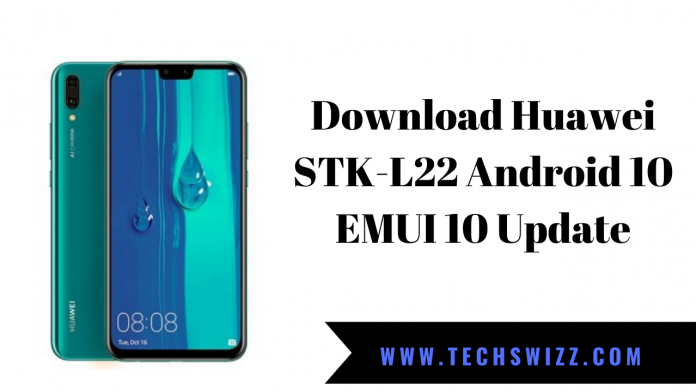 Download Huawei STK-L22 Android 10 EMUI 10 Update