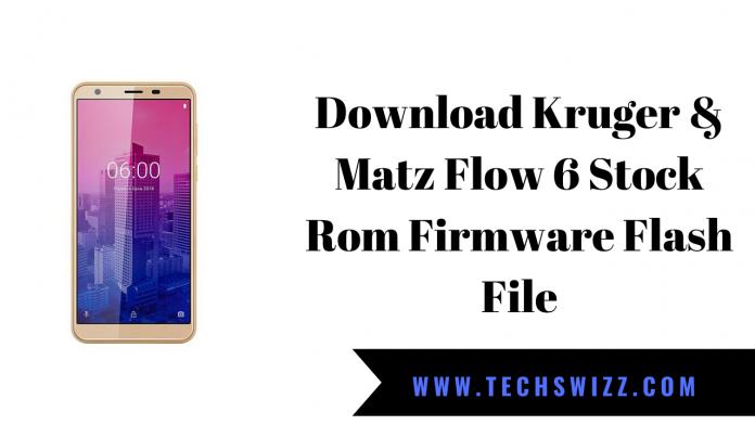 Download Kruger & Matz Flow 6 Stock Rom Firmware Flash File