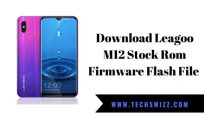 Download Leagoo M12 Stock Rom Firmware Flash File