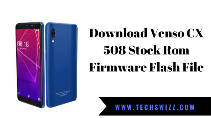 Download Venso CX 508 Stock Rom Firmware Flash File