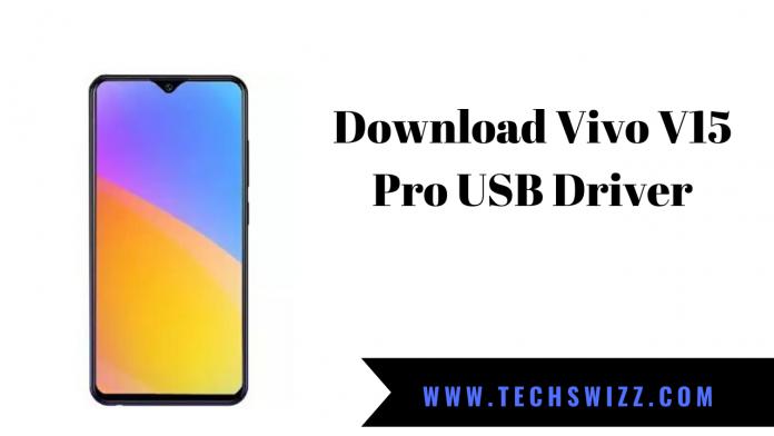 Download Vivo V15 Pro USB Driver