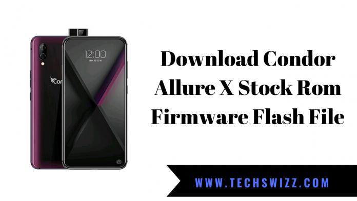 Download Condor Allure X Stock Rom Firmware Flash File