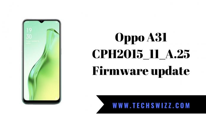 Oppo A31 CPH2015_11_A.25 Firmware update