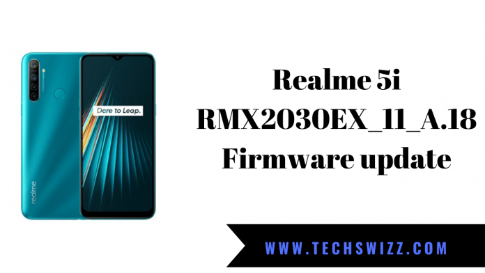 Realme 5i RMX2030EX_11_A.18 Firmware update