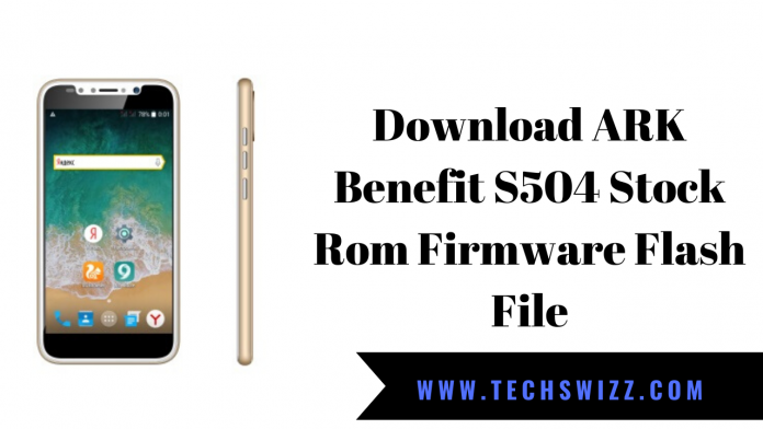 Download ARK Benefit S504 Stock Rom Firmware Flash File