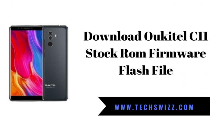 Download Oukitel C11 Stock Rom Firmware Flash File