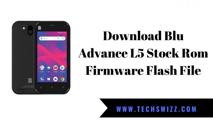 Download Blu Advance L5 Stock Rom Firmware Flash File