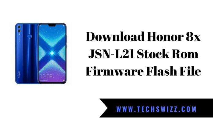 Download Honor 8x JSN-L21 Stock Rom Firmware Flash File