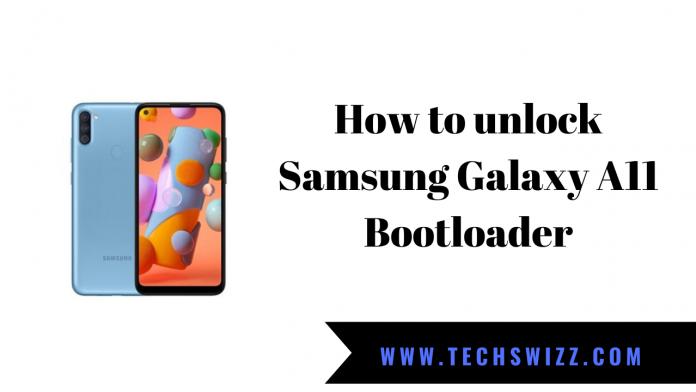 How to unlock Samsung Galaxy A11 Bootloader
