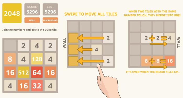 2048 Math game